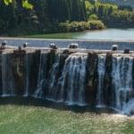 大分県豊後大野市にある沈堕の滝