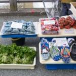 宮川朝市で売られている地元の野菜や民芸品