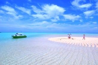 与論島・百合ヶ浜の光景