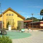 和歌山県の有田川町にある有田川町鉄道公園・外観と展示列車