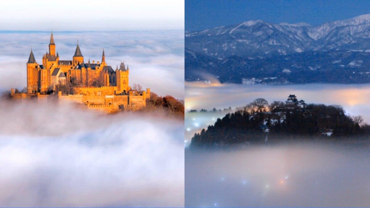 【ヨーロッパVS日本】あなたはどちら派?雲海に浮かぶ天空の城