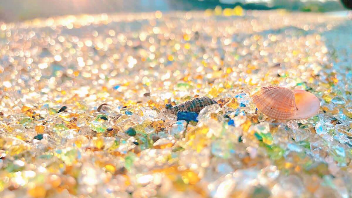 長崎シーグラスビーチ(ガラスの砂浜)は、長崎空港近くのガラスがキレイな海岸