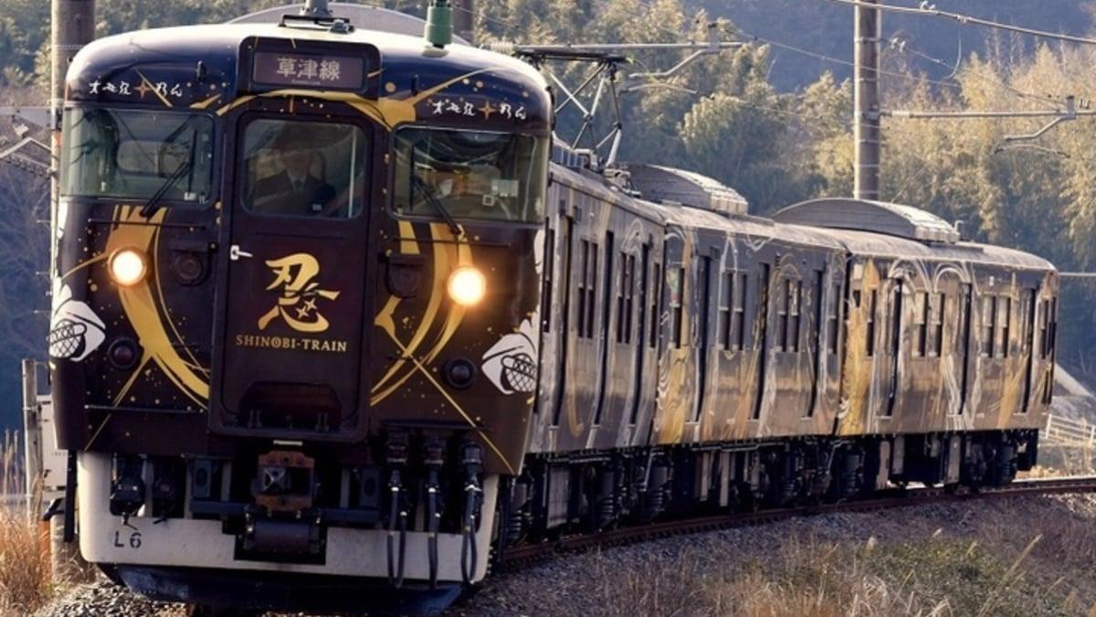 忍者列車が疾走!JR草津線沿線で御朱印ならぬ「御SHINOBI印」巡り♪