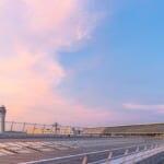 中部国際空港(セントレア)の空港デッキの美しい夕景