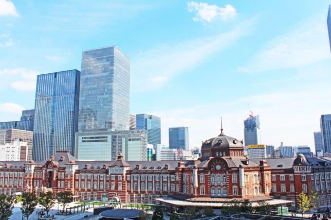 日本の首都、東京への玄関口の東京駅