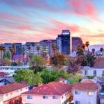 サンノゼ (カリフォルニア州)の美しい夕焼けの街並み