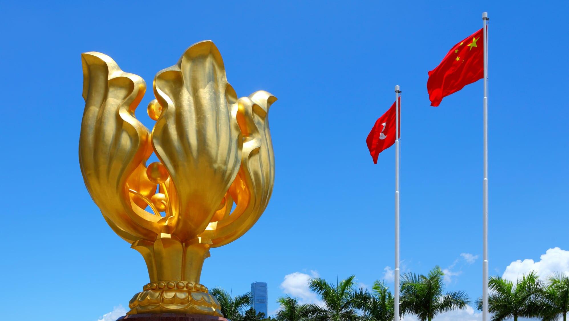 香港を象徴する観光名所「ゴールデン・バウヒニア・スクエア」とは?