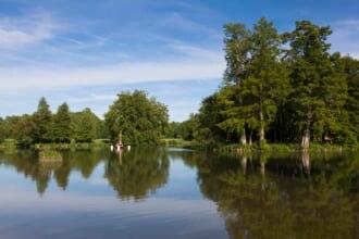 フランス検索結果 ウェブ検索結果 パリ近郊エソンヌ県にあるシャマランド城の湖