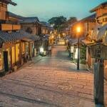 京都の情緒ある街並み