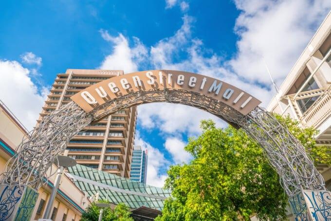 Queen Street Mall in Brisbane(ブリスベンのクイーンストリート モール)