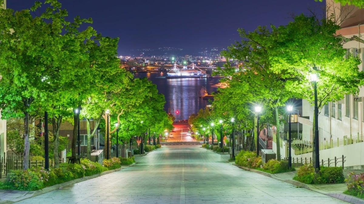 函館「八幡坂」の魅力を徹底解説。函館湾へ向かって伸びる石畳の坂道