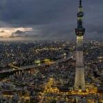 東京の夜景も一望